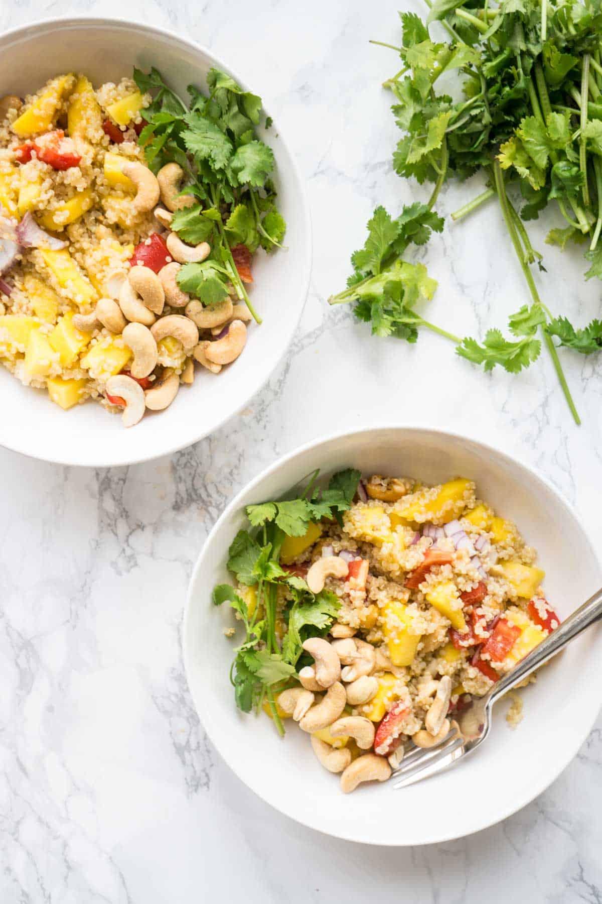 Mango Quinoa Salad -Thai Inspired