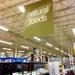 """Grocery store sign: """"Natural foods"""""""