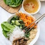 Bun Thit Nuong - Vietnamese Vermicelli with Pork