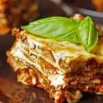 fall harvest roasted veggie lasagna