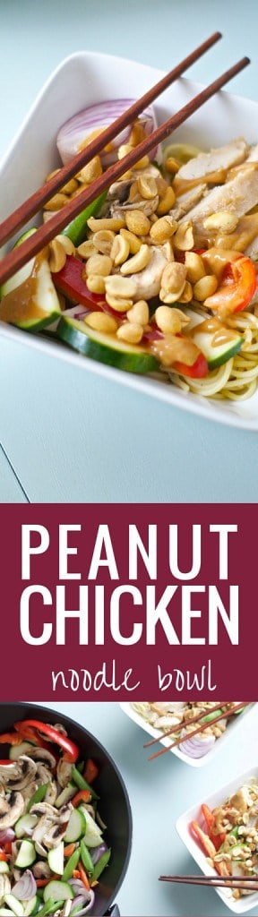 Peanut Chicken Noodle Bowl