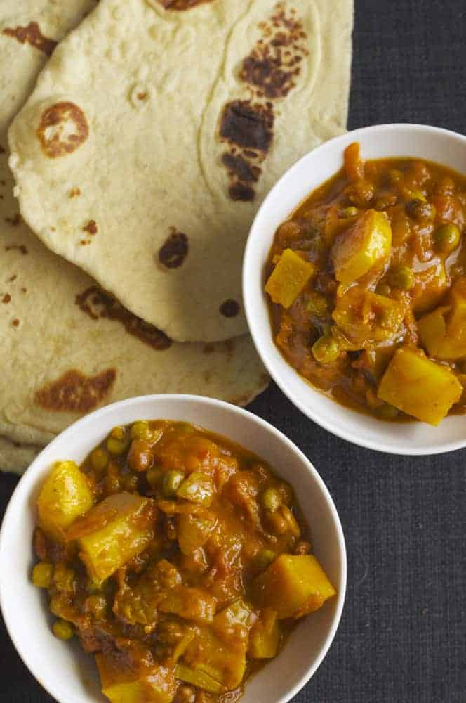 Samosa Stew with Sourdough Naan