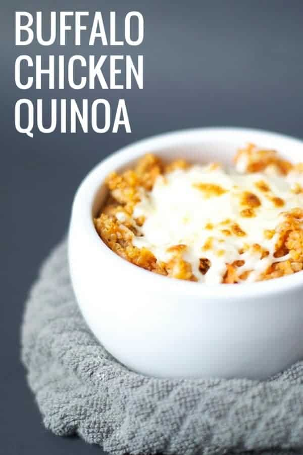 Buffalo Chicken Quinoa a healthy meal