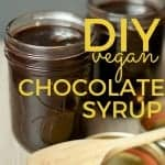 DIY vegan chocolate syrup