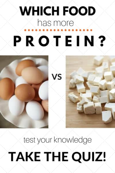 Which food has more protein?