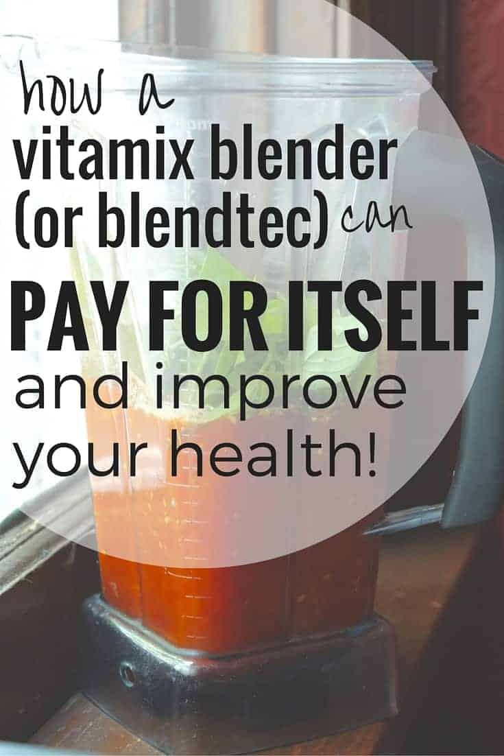 How a Vitamix Blender (or Blendtec) can pay for itself and improve your health