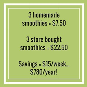 homemade vs bought smoothie