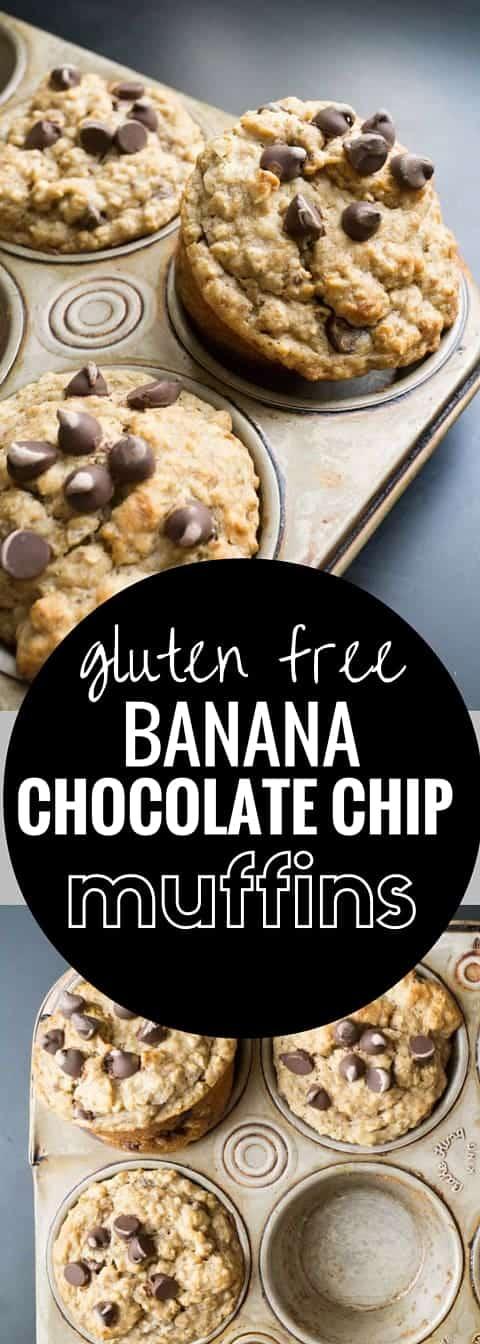 Banana Chocolate Chips Muffins (gluten free)