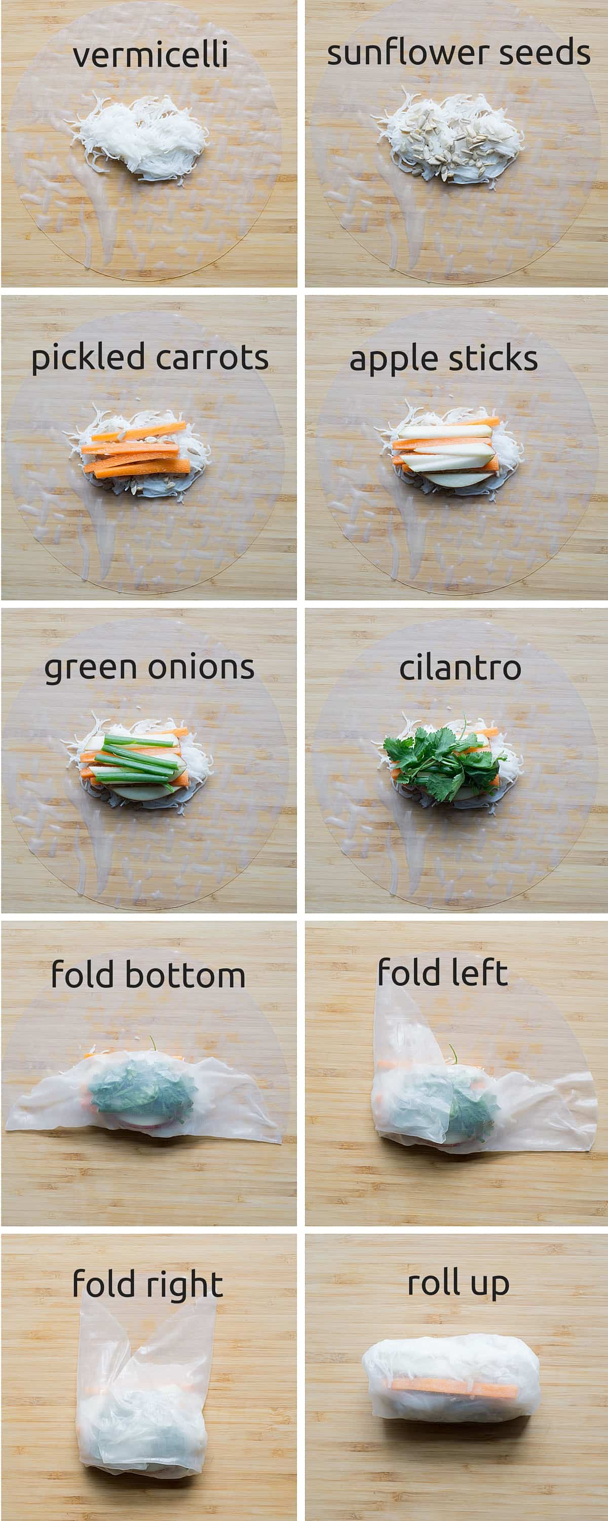 How to make a salad/summer roll