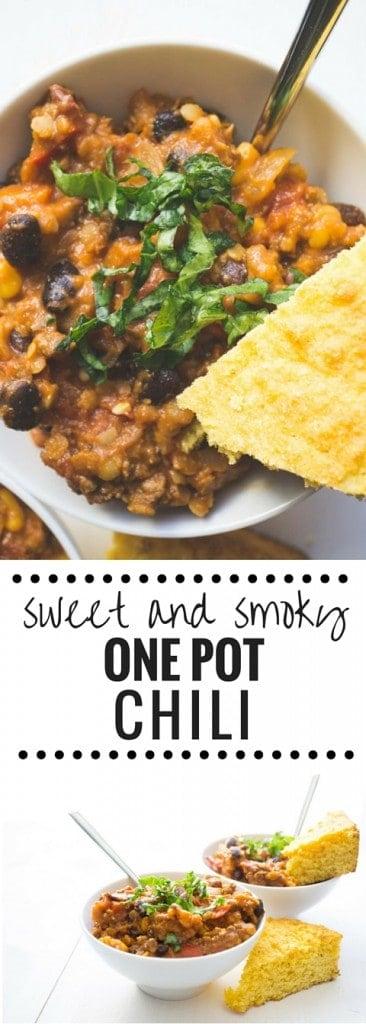 Sweet and Smoky One Pot Chili