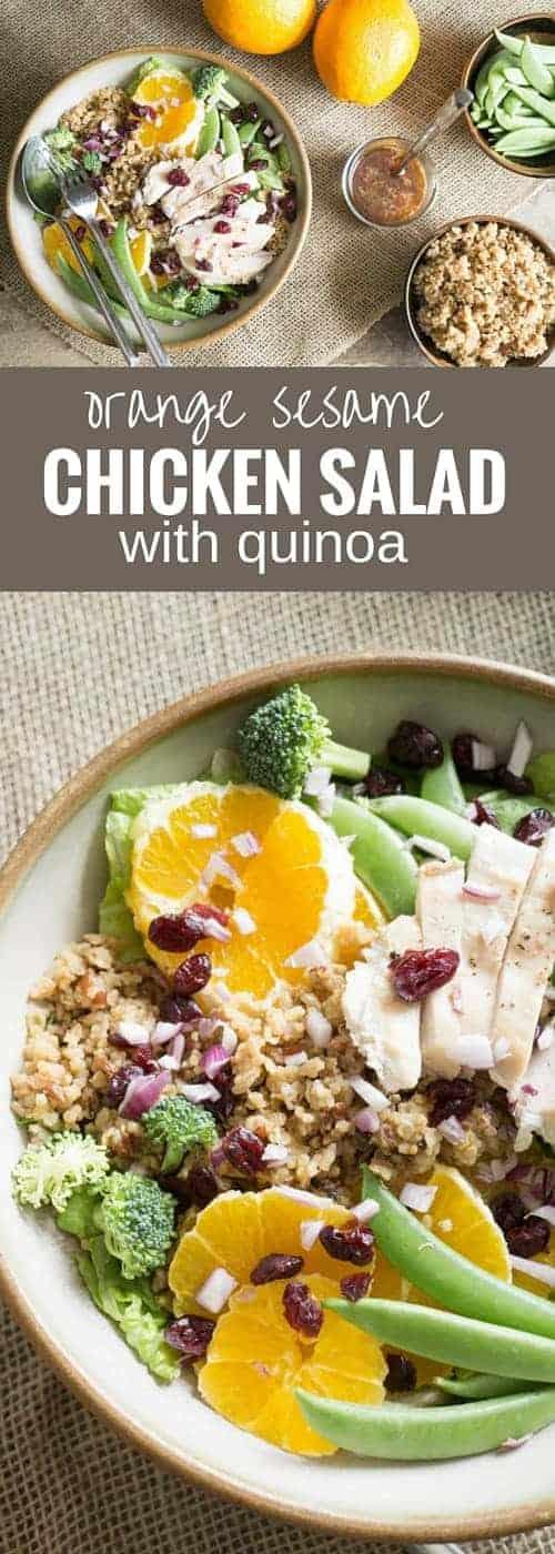 Orange Sesame Chicken Salad with Quinoa