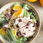 Orange Sesame Salad with Chicken and Quinoa
