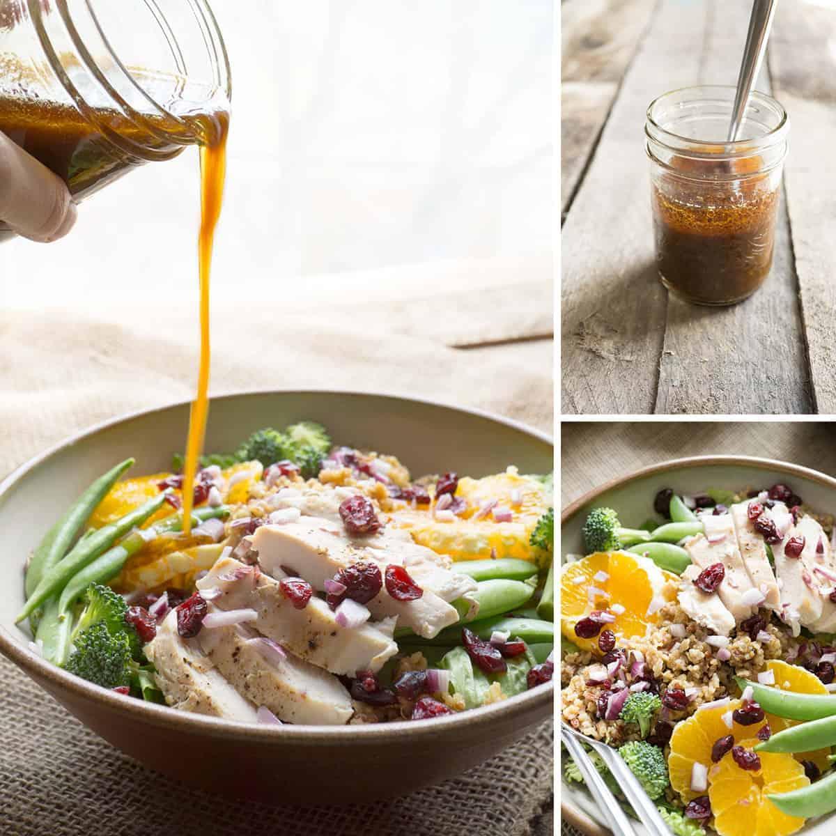 Orange salad collage