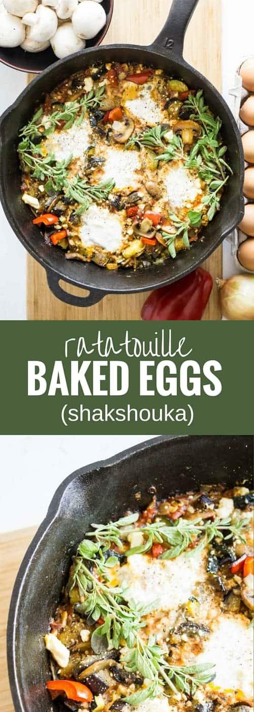 Ratatouille Baked Eggs (shakshouka)