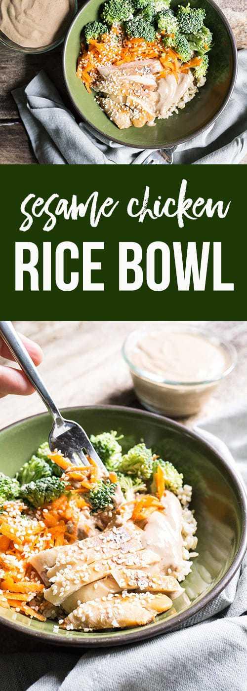 Sesame Chicken Rice Bowl