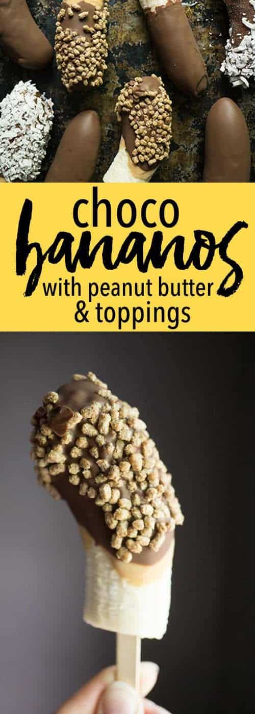 Choco Bananaos (chocolate covered frozen bananas)