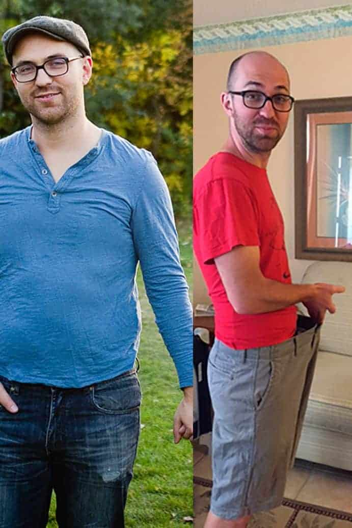 Jeremy's before and after