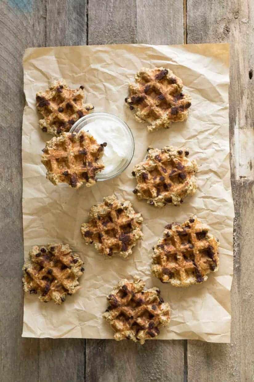 chocolate chip oatmeal waffles [gluten free]