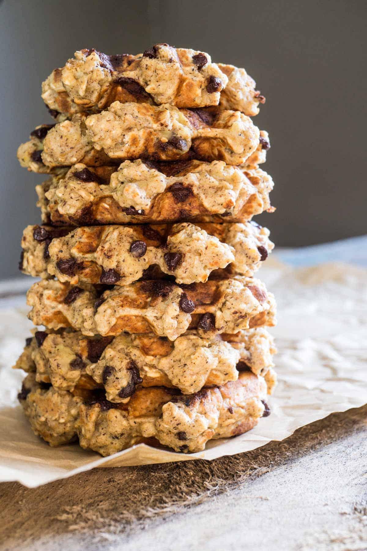chocolate chip oatmeal waffles [gluten free] - Smart Nutrition