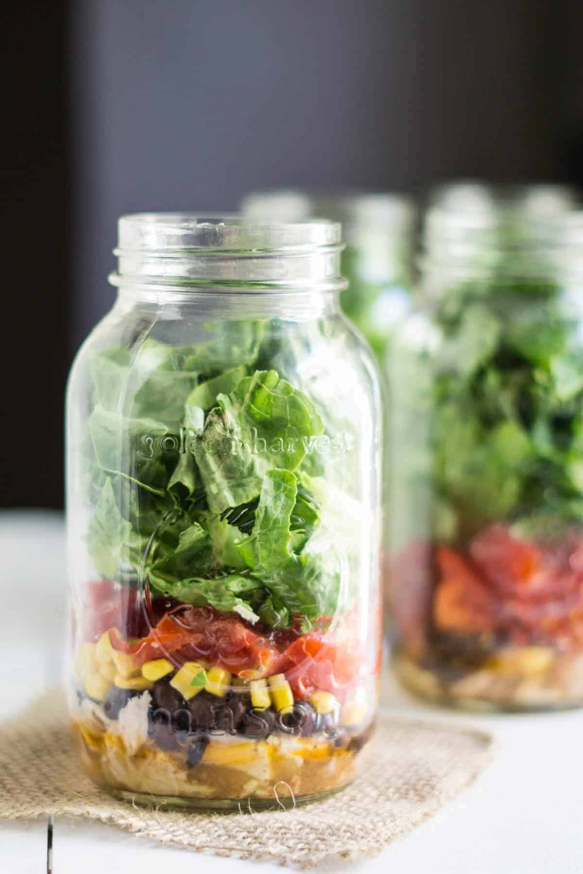 mexicana mason jar salad