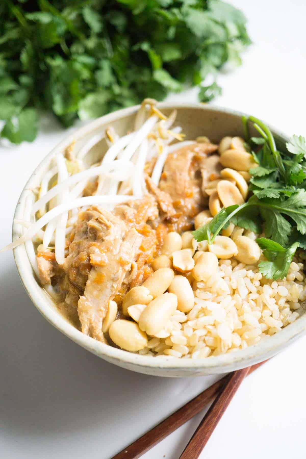 Thai Peanut Chicken freezer meal