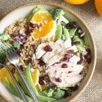 big salad: orange sesame with chicken