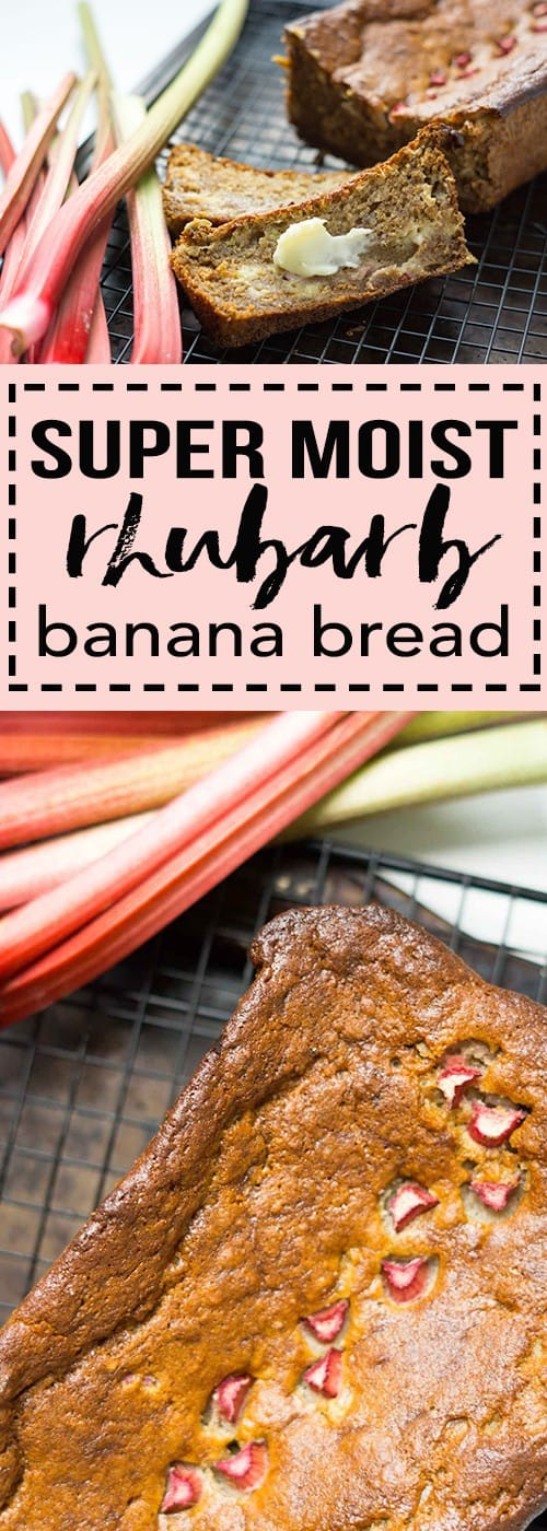 super moist rhubarb banana bread