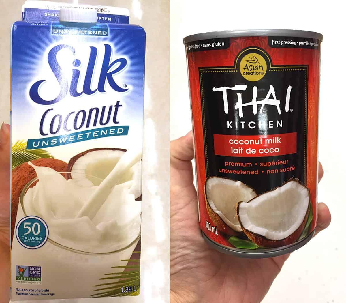 Milk alternatives -coconut milk