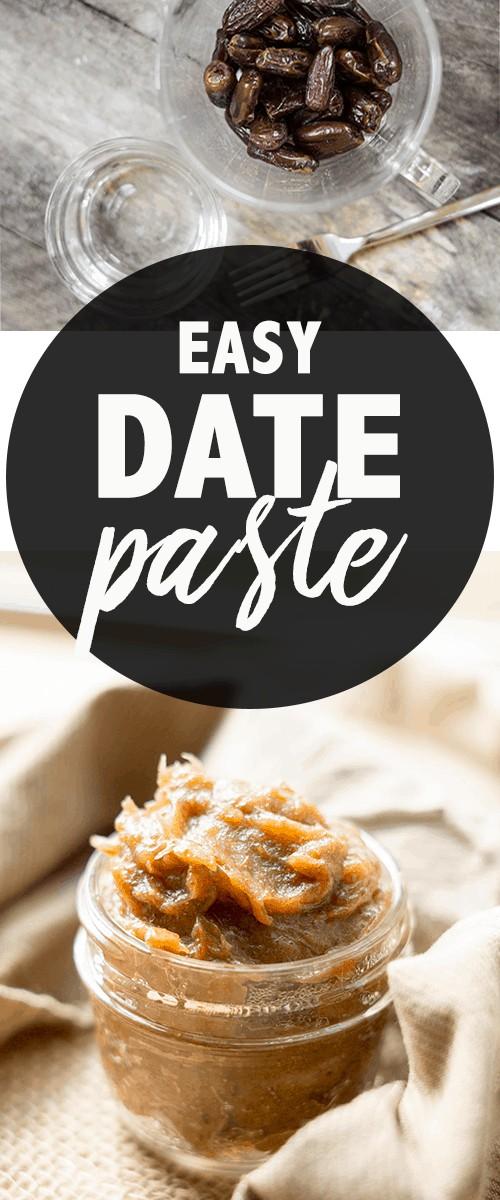 date paste no food procesor needed