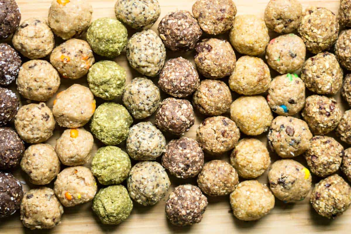 energy balls 15 no-bake flavours