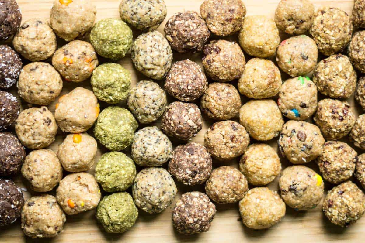energy balls 15 no-bake flavours