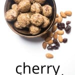 energy balls cherry almond
