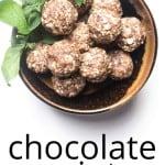energy balls chocolate mint