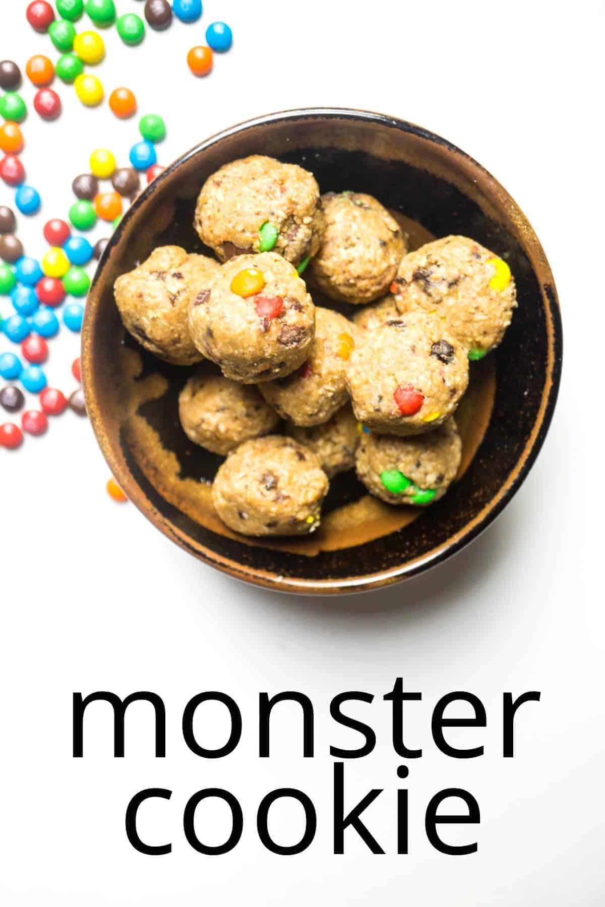 energy balls monster cookie