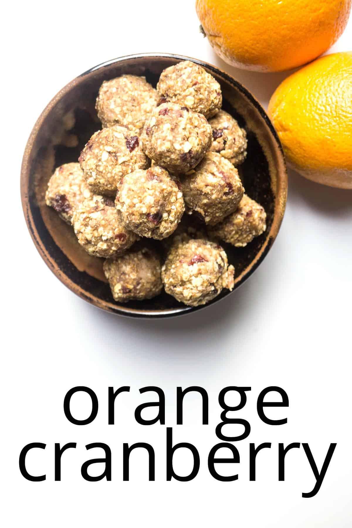 energy balls orange cranberry