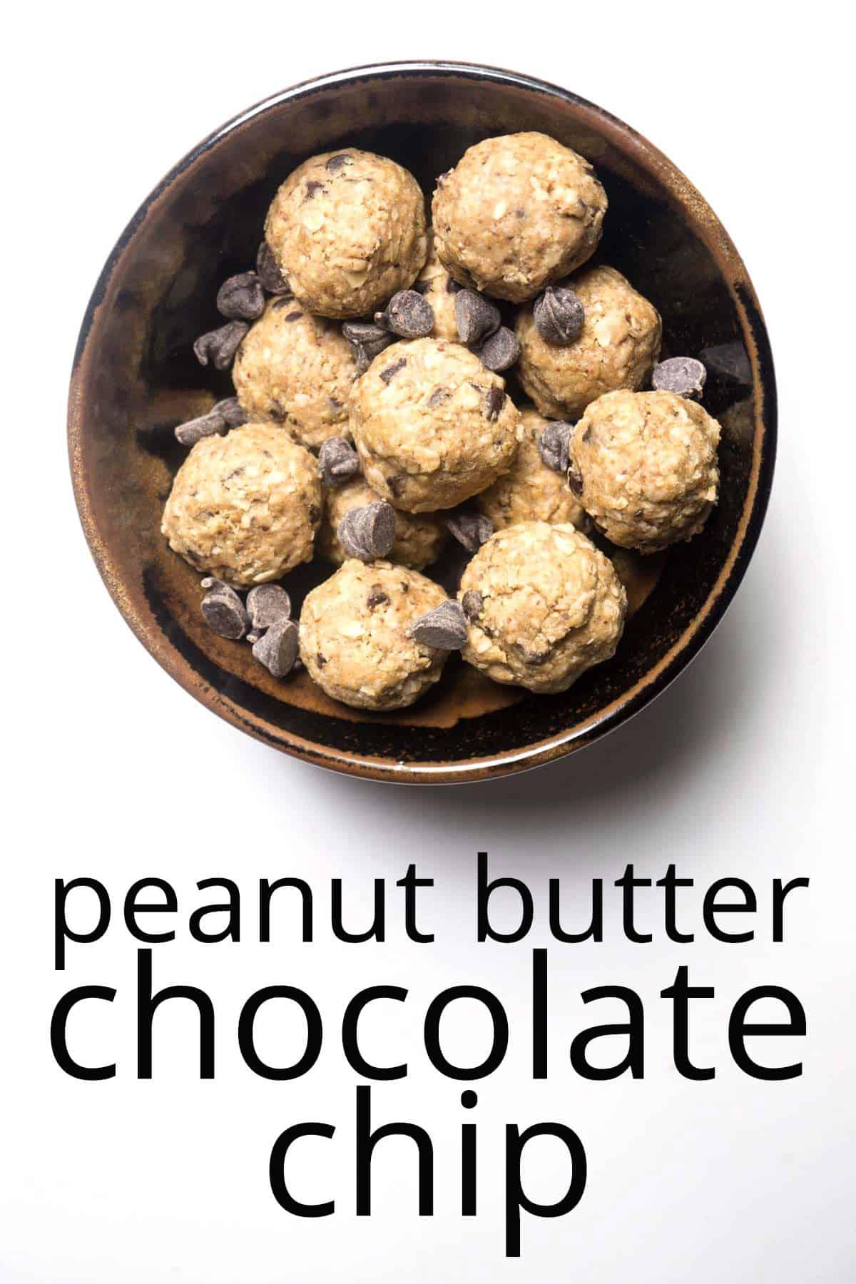 energy balls peanut butter chocolate chip