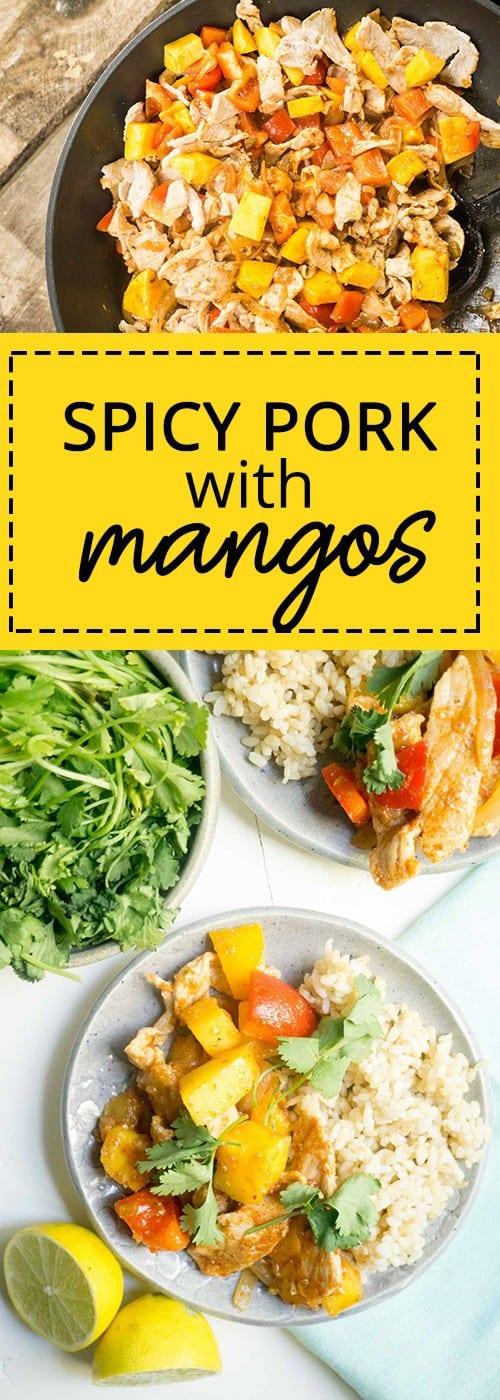 spicy pork with mango
