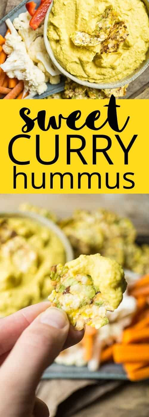 sweet curry hummus | #healthysnack | #vegan | #glutenfree | #curry | #hummus | #healthysnacks