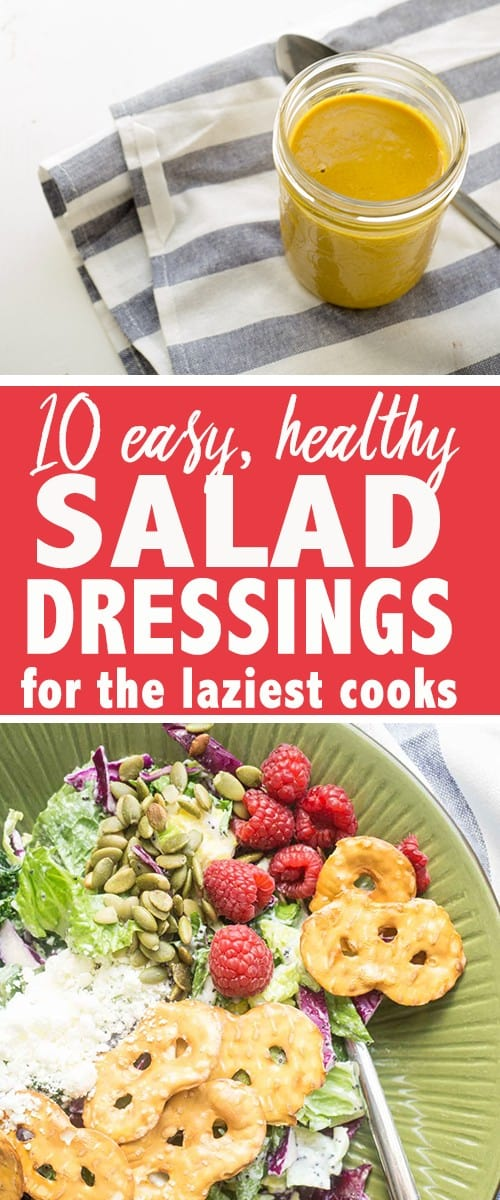 10 easy healthy salad dressings