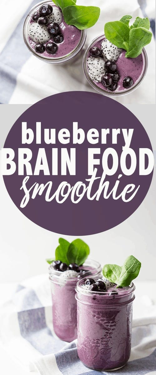 blueberry brain food smoothie