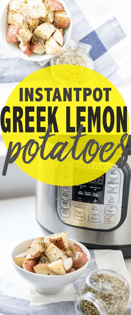 instant pot greek lemon potatoes