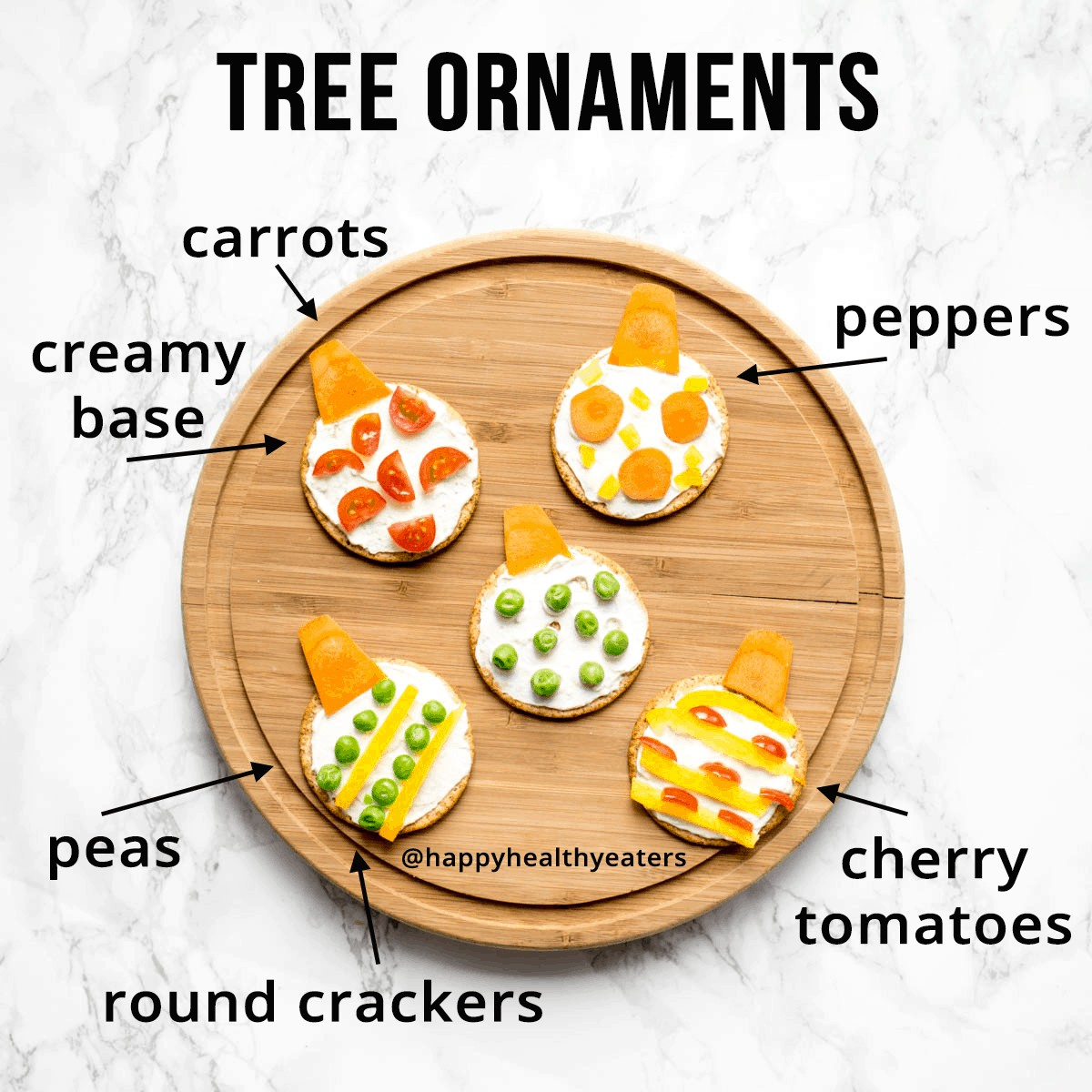 Christmas Snacks: easy and healthy (ornament)