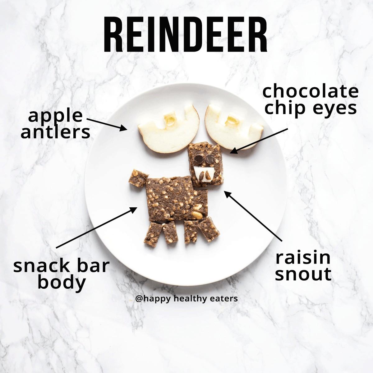 Christmas Snacks: easy and healthy (reindeer)