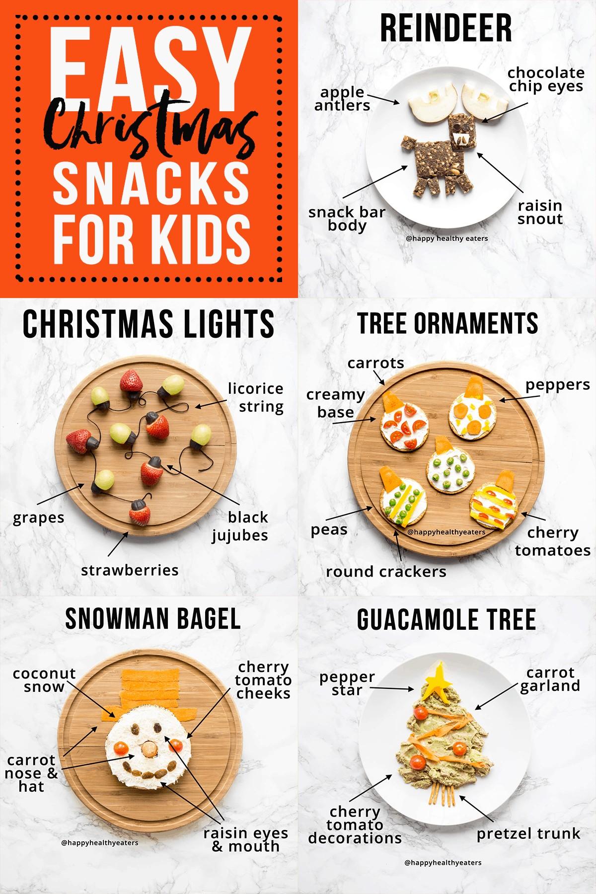 Easy Christmas Snacks for Kids #snacks #christmas #healthychristmas #healthysnacks