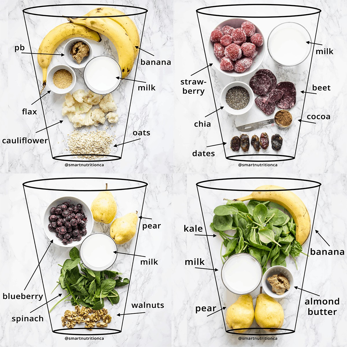 Vegetable smoothies freezer packs. Free guide with grocery list and instructions for making 20 freezer smoothie packs! #glutenfree #vegan #smoothie #greensmoothie #smoothiepacks #makeahead #mealprep #breakfastmealprep #vegansmoothie #vegansmoothies #glutenfreesmoothie #healthybreakfast