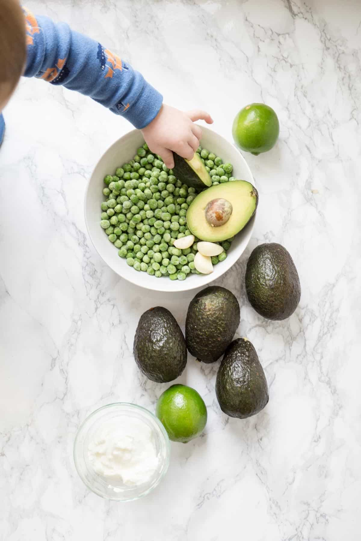 Ingredients for Avocado Cream Sauce