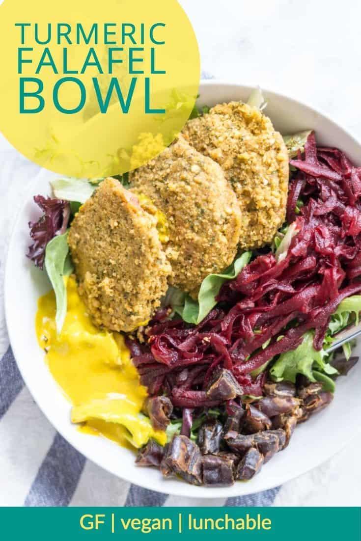 Turmeric Falafel Bowl: a vegan, glutenfree lunch idea!