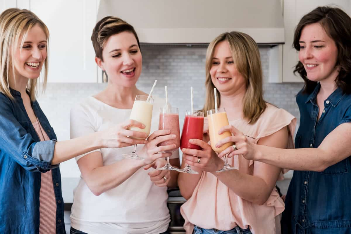 Smoothie cheers! Photography by Gabrielle Touchette
