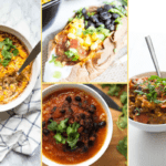 supper club collage for week 3 include tuna casserole, chipotle black beans, mexican potatoes, and smoky chili