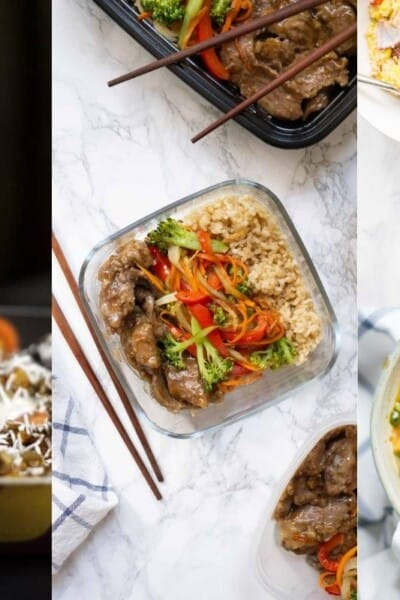 collage of recipes for winter meal plan number one